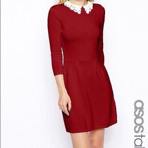 ASOS Crochet Collar Skater Dress